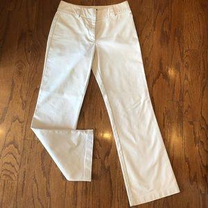 Ann Taylor dressy light khaki pants slight flare